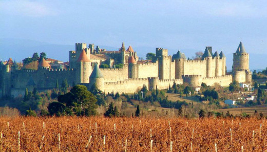 View of the Carcassonne Castle