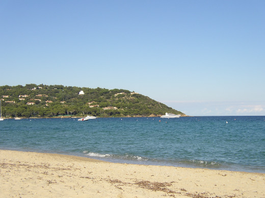 View from the Pampelonne Beach