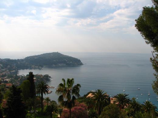 View of Cap Ferrat near Villefranche sur mer