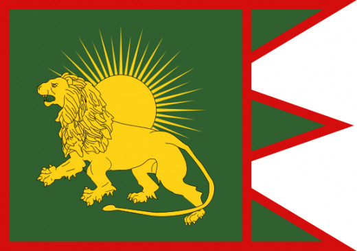 The flag of the Mughal Empire.
