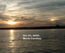 Notice the reflection on the water from this 2nd sun proving it cannot possible be a sun dog.