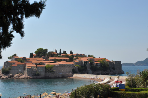 The luxury resort of Sveti Stefan