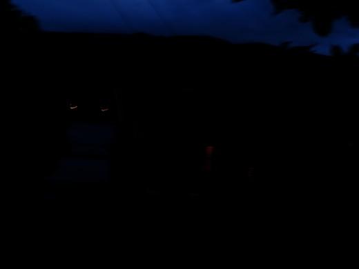 it was dark