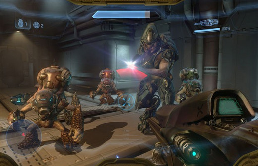 Screen shot from Halo 4