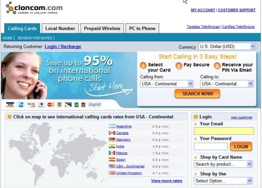 Cloncom Website Screen Shot