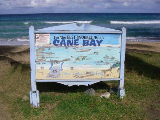 check out their website for diving the wall - you can swim out from the beach. http://www.canebayscuba.com/