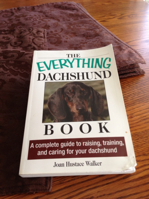 The worn copy of The Everything Dachshund Book