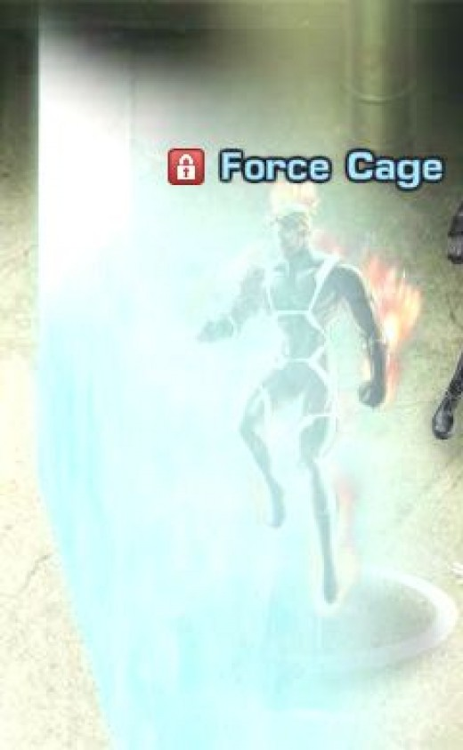 Human Torch in Force Cage