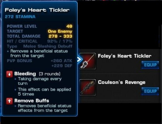 Foley's Heart Tickler and Coulson's Revenge as referred to in the Hub