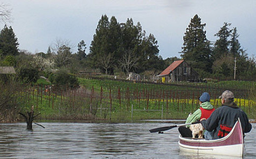 The laguna area during wet periods