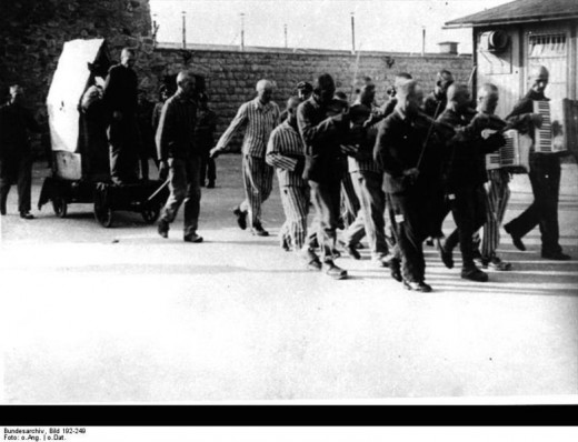Concentration camp of Mauthausen. July 30, 1942