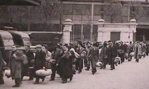 Parisian Jews being rounded up to the Velodrome d'hiver in July 1942, later to be deported to Auschwitz