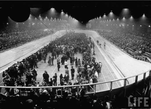 General view of the Velodrome d'Hiver in Paris.
