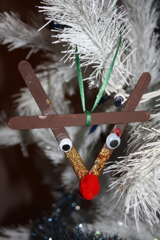 A popcicle stick reindeer.