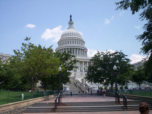The US Capitol was photographed by CJStumpf on June 8, 2006.