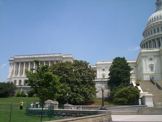The US Capitol, Senate Side was photographed by CJStumpf on June 9, 2006.