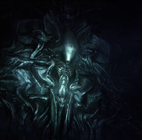 the alien queen is shown clearly depicted on a wall, yet the film doesn't give us any actual xenomorphs, just half-assed answers to a bazillion questions that it didn't need to raise.