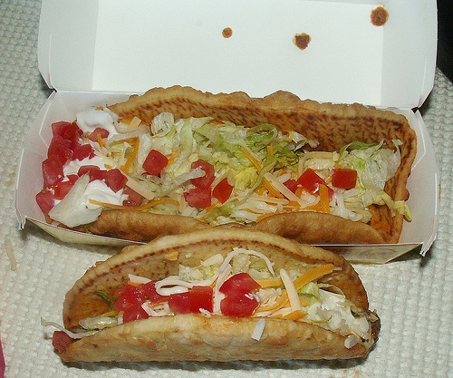 XXL Chalupa: 650 cal, 39g fat and 1300mg of sodium