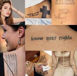 Angelina Jolie Tattoo's