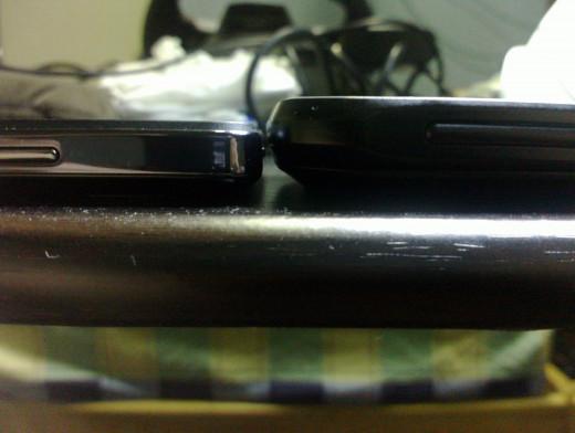 CM Titan (10.5 mm) vs Thrill 430x (14.2 mm)