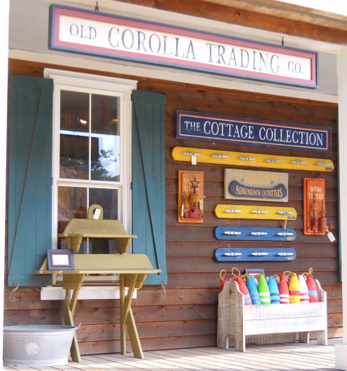 Old Corolla Trading Company has a great selection of nautical accessories and casual furniture, including maritime antiques.