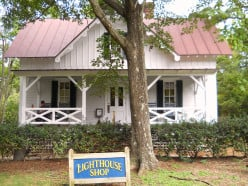 The lighthouse gift shop sells beautiful nautical items and gifts to raise funds to maintain the buildings and grounds. This building was restored by the non-profit organization, Outer Banks Conservationists.