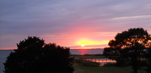 Sunset looking over the Whalehead Club Grounds from a friend's rental home.