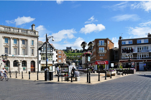 Dover Town Centre. Photo taken from Cannon Street.