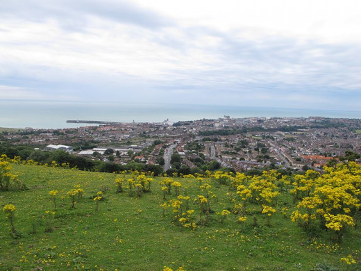 Folkestone As seen from Dover Hill (adjacent to Crete Road East).
