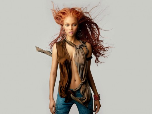 Tyra has done extensive print and/or runway work for fashion/advertising giants, here is one of her best modeling photos.