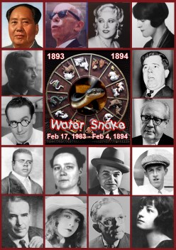 Famous People, Water Snakes and Chinese Astrology