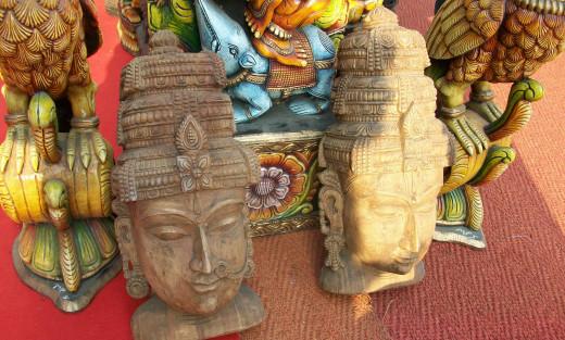 The wonderful Wooden handicrafts at IITF, New Delhi