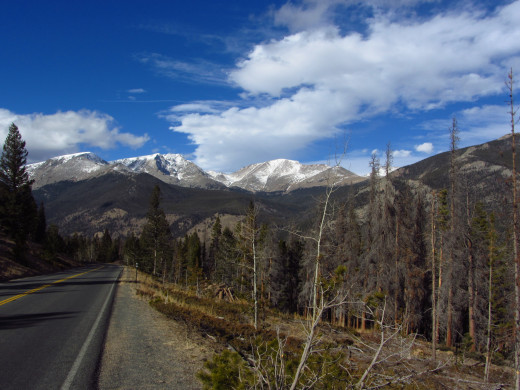 View from the road in Rocky Mountain Natilonal Park.