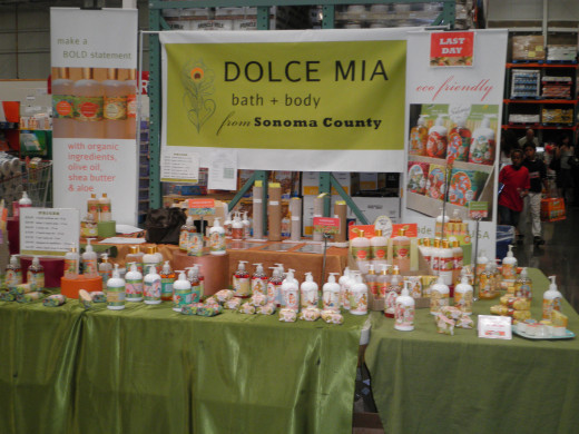 A Dolce Mia booth at the Costco roadshow