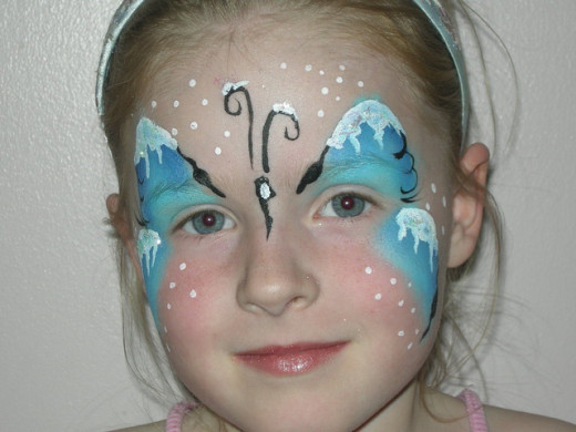 snowflake butterfly face painting