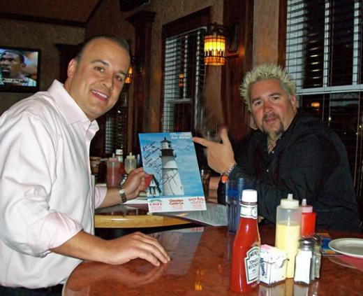 Guy Fieri with Gus Tselios