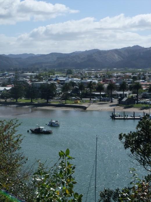 Whitanga Marina from the top of a Maori Pa site