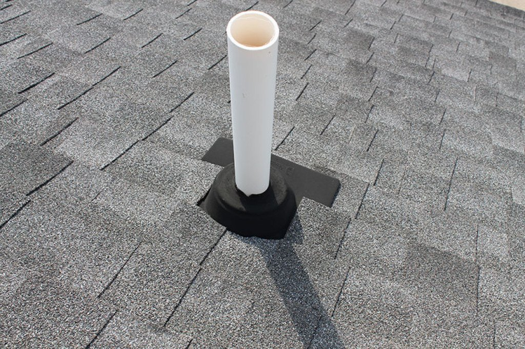 roof sewer vents can leak rain water down into your walls