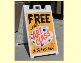 A sign I made for The Green Forest Art Studio in Union City. It's working well and bringing in business.
