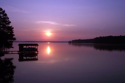Lake Gaston at sunset