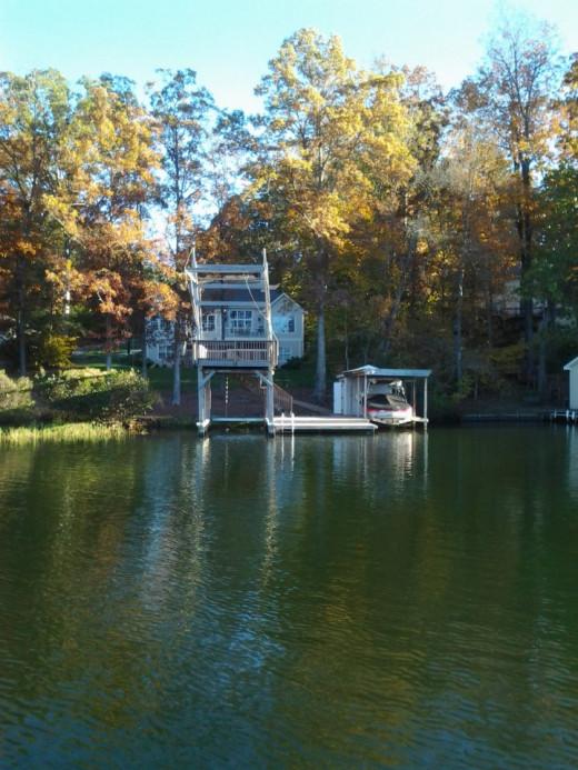Lake Gaston is beautiful at every season