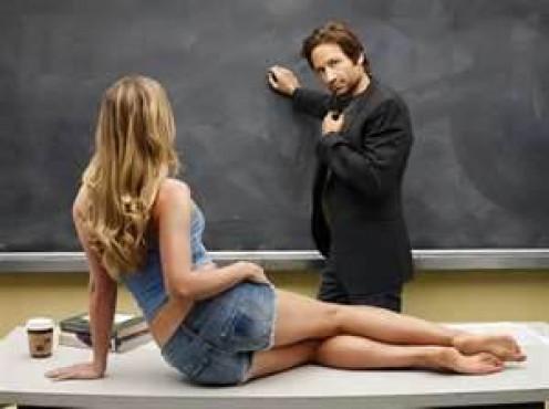 Hank as college professor