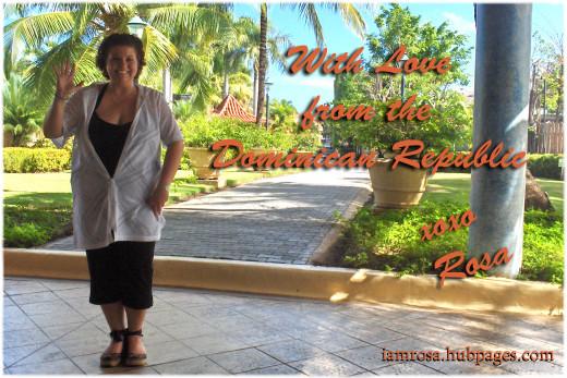 In the entrance of the Gran Ventana Beach Resort in Puerto Plata, Dominican Republic