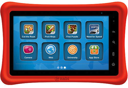 The nabi 2 is a kid-friendly tablet running a version of the Android operating system.