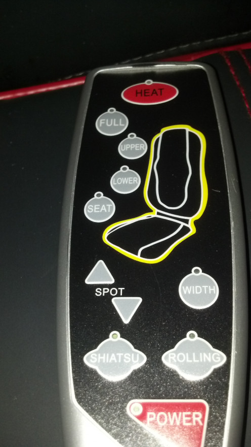 With the Casada Quattromed III remote control, you have the power to decide the location, the frequency, the duration, heat, vibration, rolling action, and shiatsu all in your hand!