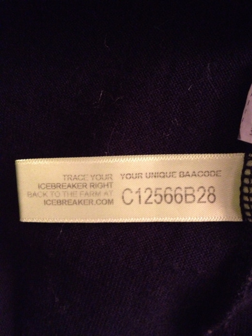 Barcode to trace where the merino wool was harvested