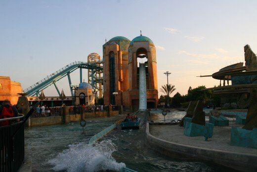 Journey to Atlantis begins with a 60' drop.