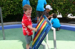 A xylophone at Sea World's Bay of Play.