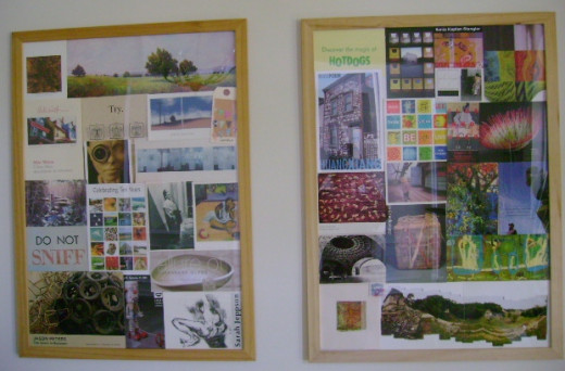 photo collages are an easy way to create inexpensive wall art  (c) purl3agony 2012