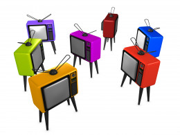 © Oneo2 | Stock Free Images & Dreamstime Stock Photos 3d image, Conceptual Old-style Tv, random position